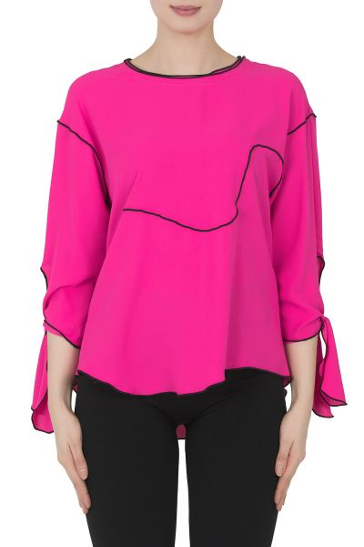 Joseph Ribkoff Neon Pink Top Style 191275