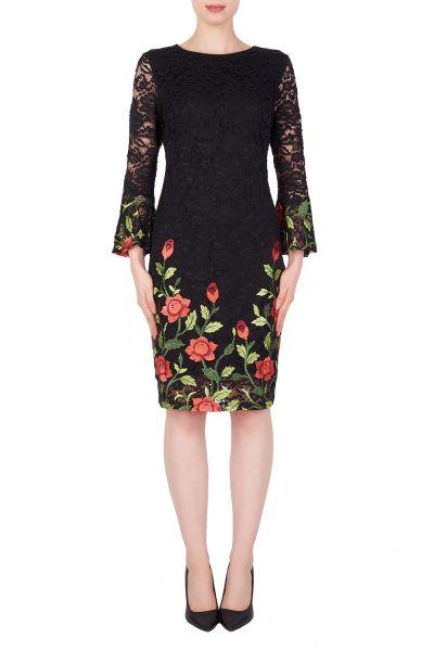 Joseph Ribkoff Black/Multi Dress Style 191500