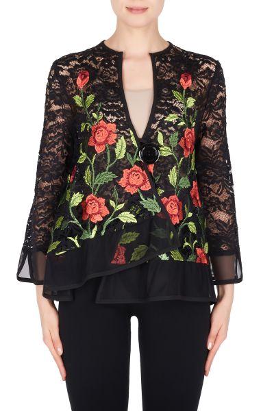 Joseph Ribkoff Black/Multi Jacket Style 191501