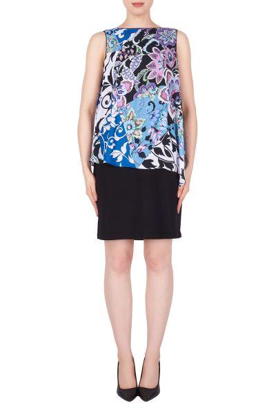 Joseph Ribkoff Blue/Multi/Black Dress Style 191604