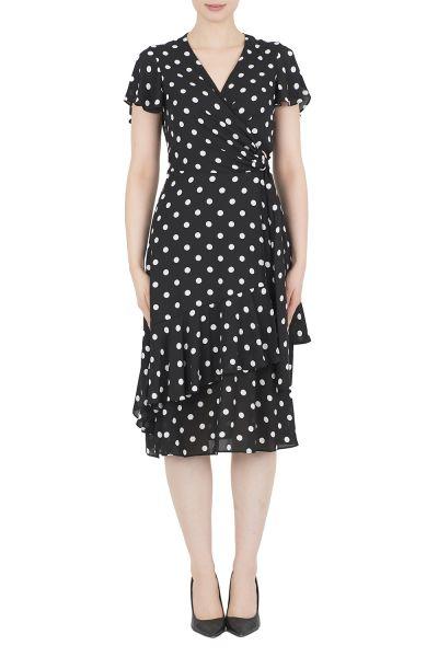Joseph Ribkoff Black/Vanilla Dress Style 191616