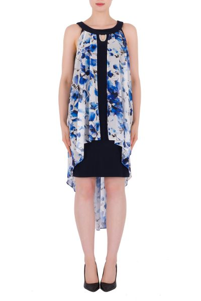 Joseph Ribkoff White/Blue Dress Style 191621