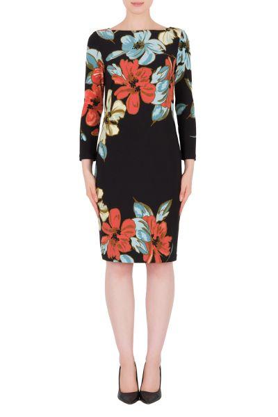 Joseph Ribkoff Black/Multi Dress Style 191634
