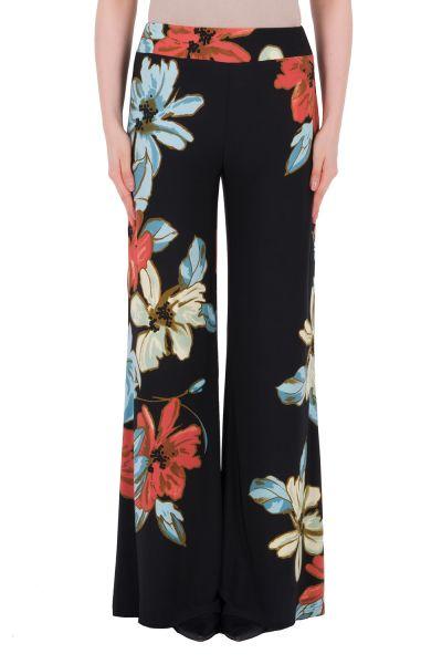 Joseph Ribkoff Black/Multi Pants Style 191635