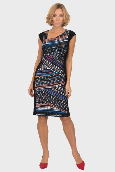 Joseph Ribkoff Black/Multi Dress Style 191647