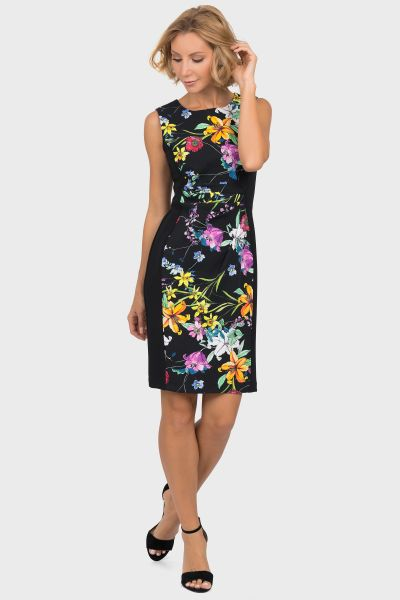 Joseph Ribkoff Black/Multi Dress Style 191667