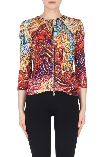 Joseph Ribkoff Purple/Multi Jacket Style 191679