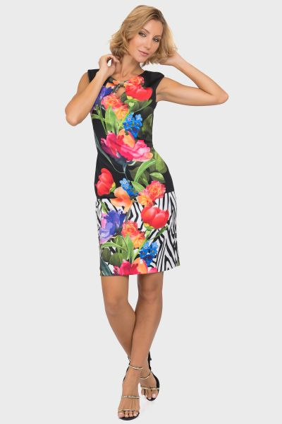 Joseph Ribkoff Black/Multi Dress Style 191700