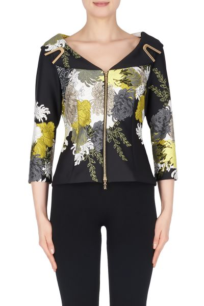Joseph Ribkoff Black/Multi Jacket Style 191704