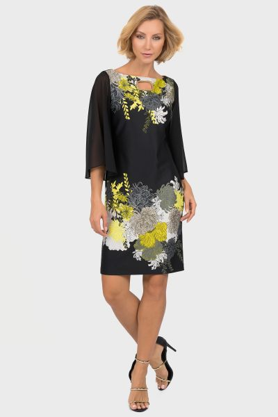 Joseph Ribkoff Black/Multi Dress Style 191706