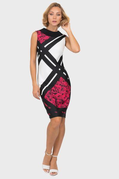 Joseph Ribkoff Black/Multi Dress Style 191709