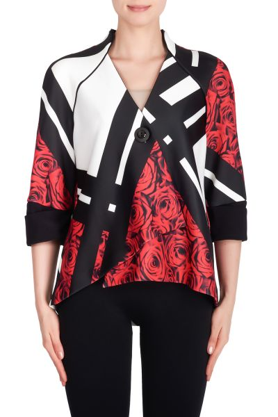 Joseph Ribkoff Black/Multi Jacket Style 191710