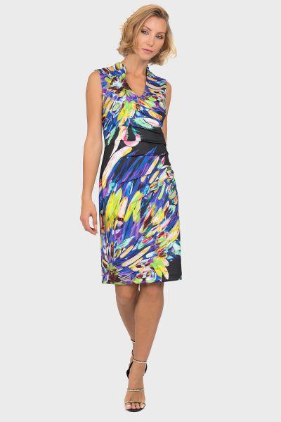 Joseph Ribkoff Black/Multi Dress Style 191737