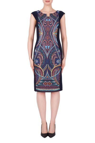 Joseph Ribkoff Midnight Blue/Multi Dress Style 191741