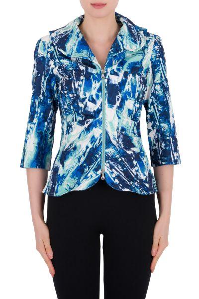 Joseph Ribkoff Blue/Multi Jacket Style 191759