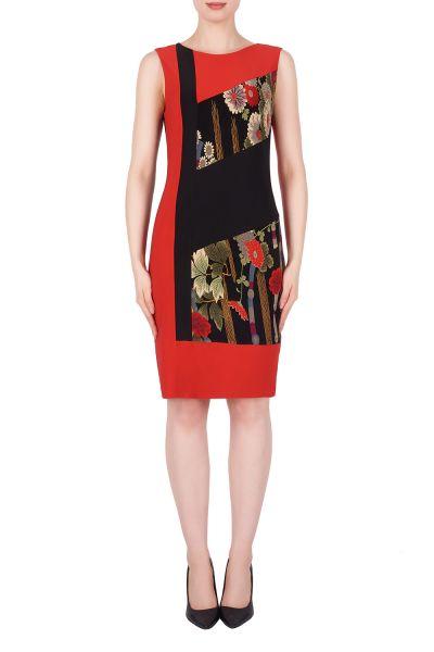 Joseph Ribkoff Lipstick Red/Black/Multi Dress Style 191765