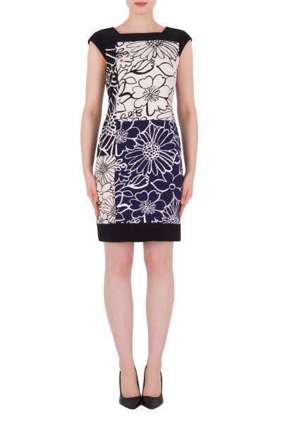 Joseph Ribkoff Blue/Black/White Dress Style 191793