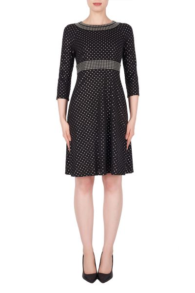 Joseph Ribkoff Black/Silver Dress Style 191796