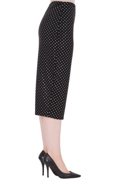 Joseph Ribkoff Black/Silver Skirt With Studs Style 191797