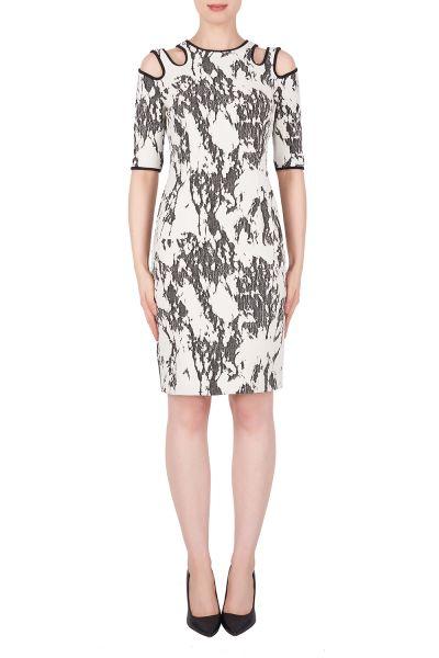 Joseph Ribkoff Cream/Black Dress Style 191808