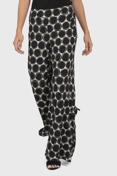 Joseph Ribkoff Black/Beige Pants Style 191814