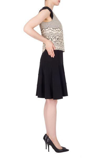 Joseph Ribkoff Black/Beige Dress Style 191880