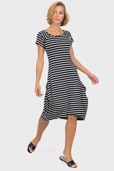 Joseph Ribkoff Black/White Dress Style 191914