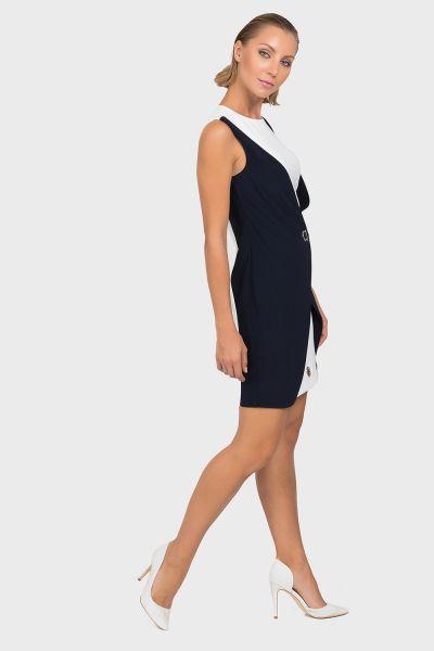 Joseph Ribkoff Midnight Blue/Vanilla Tunic/Dress Style 192060