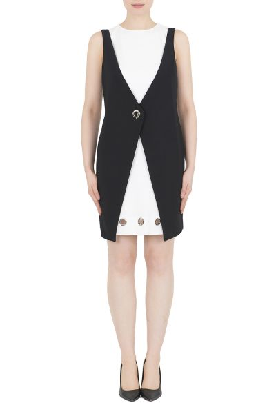 Joseph Ribkoff Black/Vanilla Tunic/Dress Style 192060