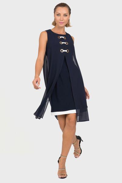 Joseph Ribkoff Midnight Blue/Vanilla Dress Style 192200