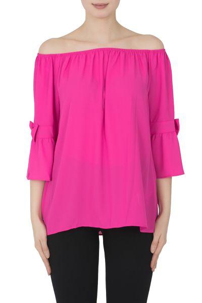 Joseph Ribkoff Neon Pink Top Style 192257