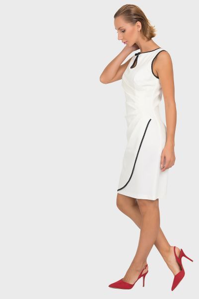 Joseph Ribkoff Vanilla/Black Dress Style 192377