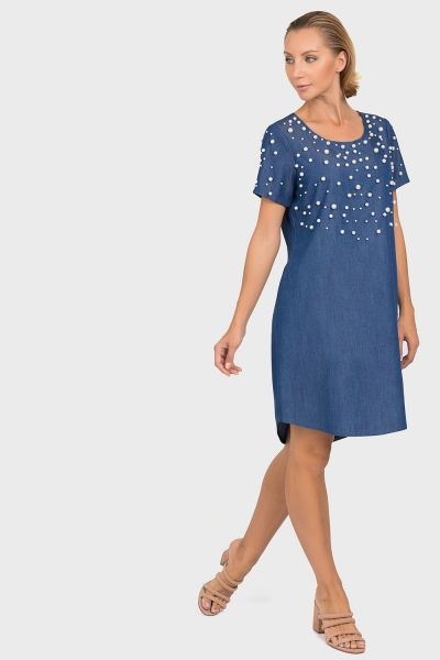 Joseph Ribkoff Denim Blue Tunic/Dress Style 192449