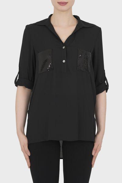 Joseph Ribkoff Black Blouse Style 192461
