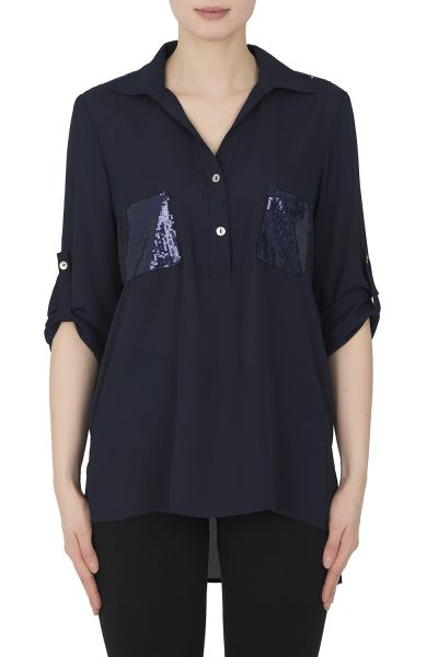 Joseph Ribkoff Midnight Blue Blouse Style 192461