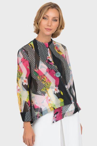 Joseph Ribkoff Black/Multi Jacket Style 192590