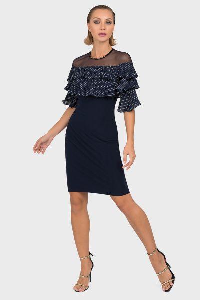 Joseph Ribkoff Midnight Blue/White Dress Style 192601