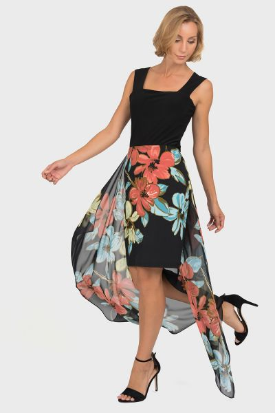 Joseph Ribkoff Black/Multi Skirt Style 192634