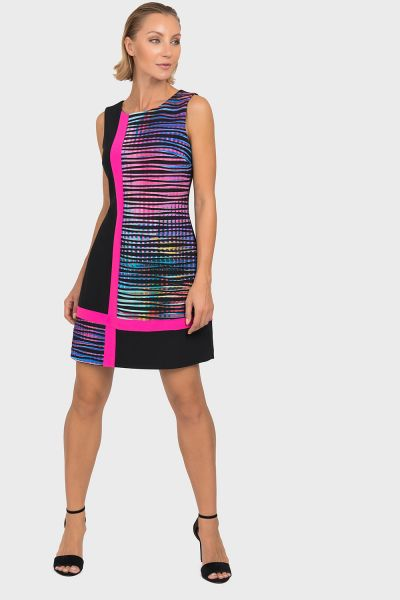 Joseph Ribkoff Black/Multi Tunic/Dress Style 192682
