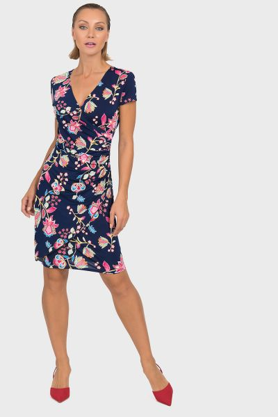 Joseph Ribkoff Navy/Multi Dress Style 192686