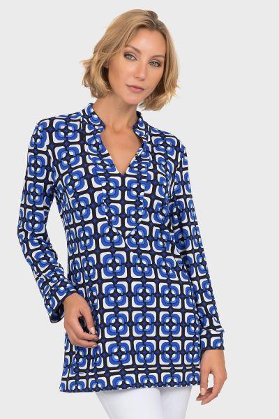 Joseph Ribkoff Black/Blue Tunic Style 192797