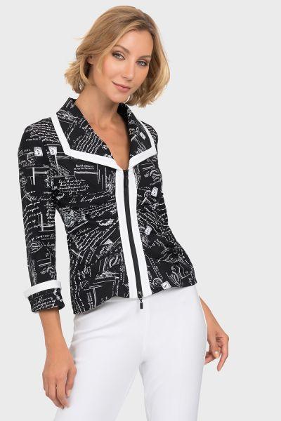 Joseph Ribkoff Black/White Jacket Style 192833