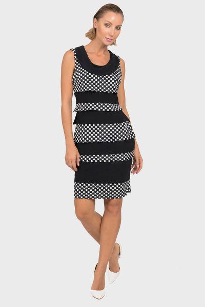 Joseph Ribkoff Black/White Dress Style 192844