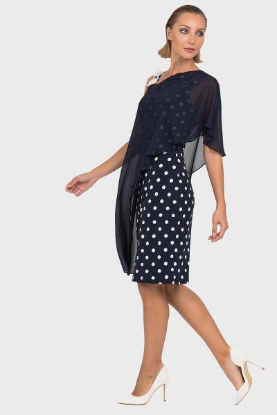 Joseph Ribkoff Midnight Blue/Vanilla Dress Style 192850