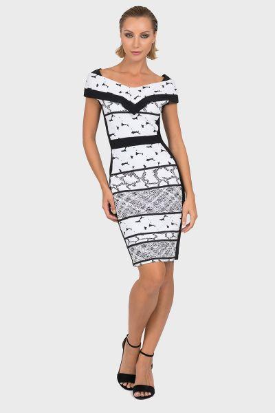 Joseph Ribkoff Black/White Dress Style 192880