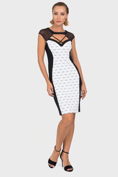 Joseph Ribkoff Black/White Dress Style 192885