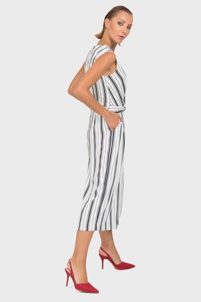 Joseph Ribkoff White/Black Jumpsuit Style 192904
