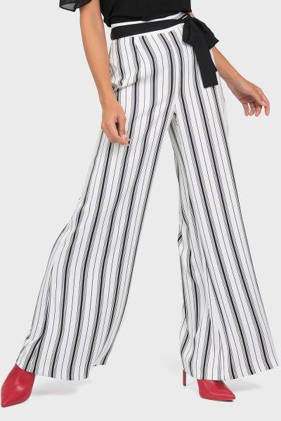 Joseph Ribkoff White/Black Pant Style 192905