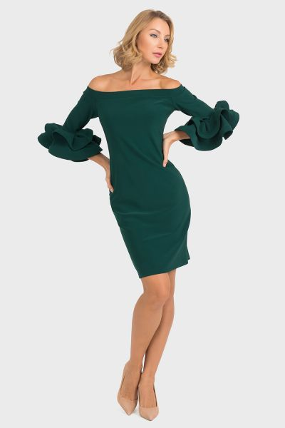 Joseph Ribkoff Emerald Green Dress Style 193007
