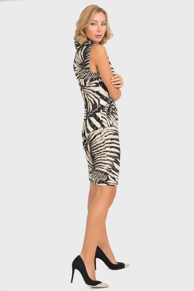 Joseph Ribkoff Black/Beige Dress Style 193012X